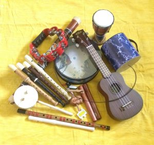 Acoustic + percussion instruments