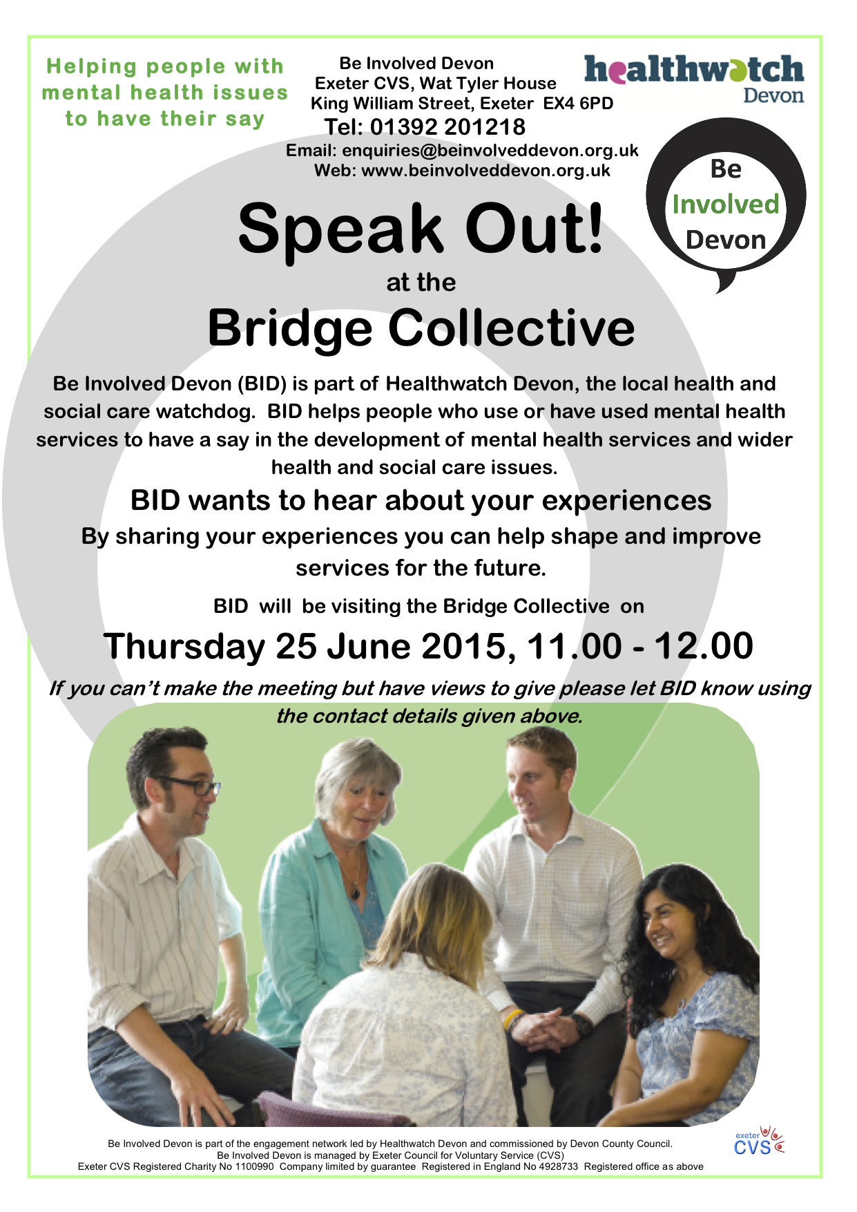 Bridge visits poster june 15