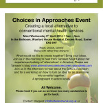 Choices in Approaches - April 9th 2014