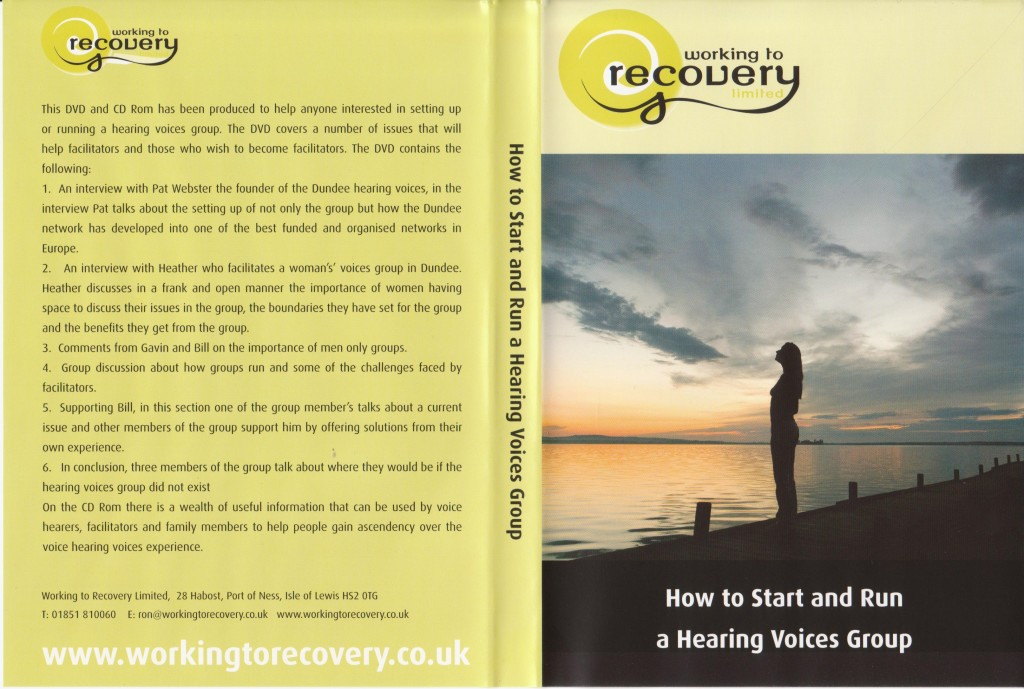 DVD How to start and run a hearing voices group