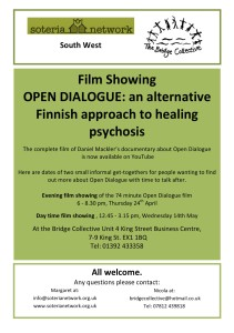 Film Showing Open dialogue poster-colour
