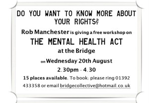 Mental Health Act workshop - August 2014