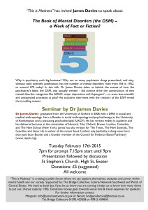 Exeter James Davies Seminar Flyer